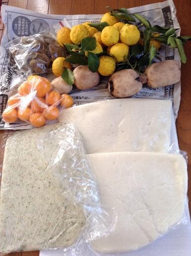 のし餅と野菜