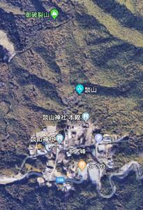 談山神社付近の航空写真