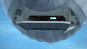 羽衣丸の飛行甲板