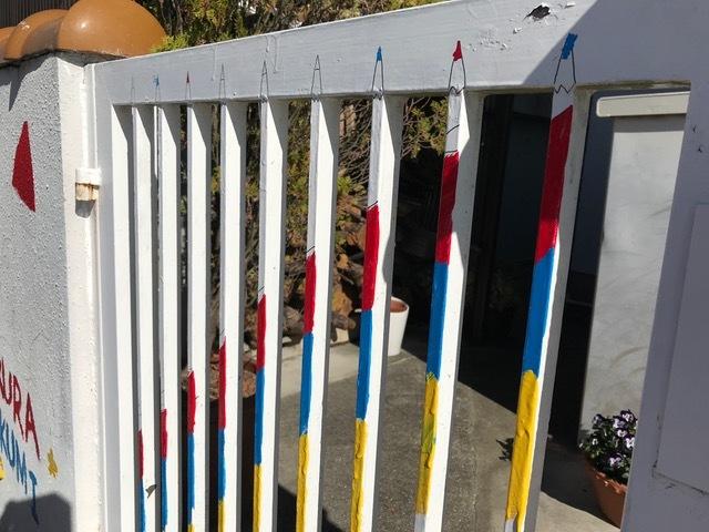 色鉛筆の門