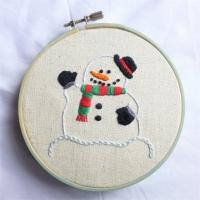 刺繍 snowman