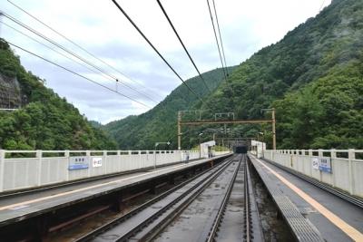 保津峡駅通過