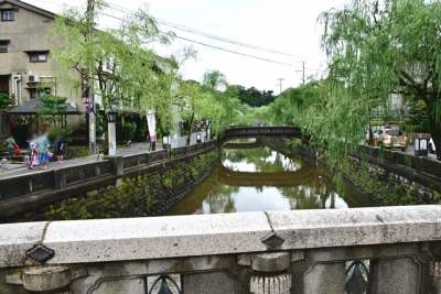 大谿川と太鼓橋