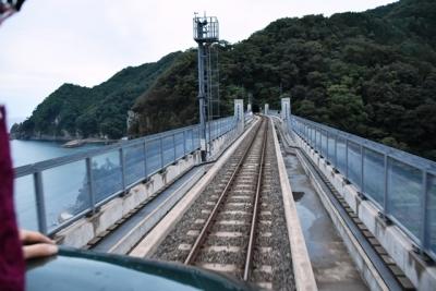 余部橋梁から望む日本海