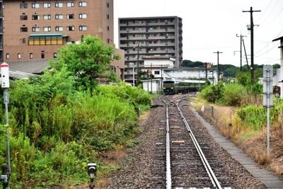 東萩駅に停車している瑞風もお見送り