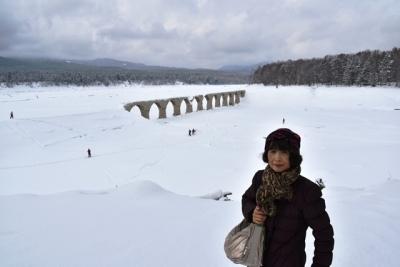 早速記念ショット タウシュベツ川橋梁