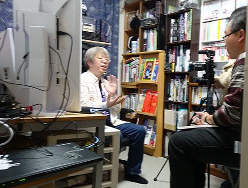 サイエンスコミュニケータとして海外局のテレビ取材を受けました