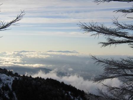 190106黒斑山~蛇骨岳 (2)富士山・奥秩父s