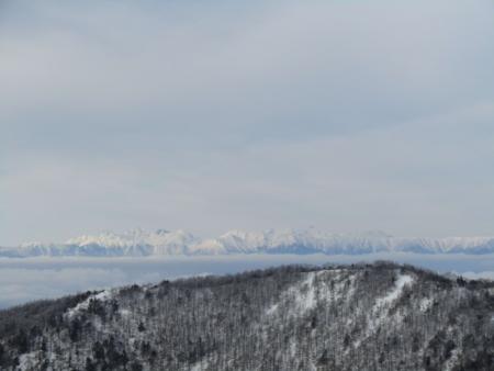 190106黒斑山~蛇骨岳 (10)北ア大キレット辺りs