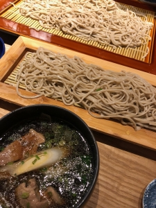 鴨南蛮と天ぷら