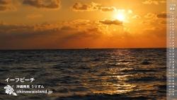 イーフビーチ,デスクトップカレンダー,久米島