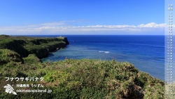 フナウサギバナタ,伊良部島,沖縄の風景,デスクトップカレンダー