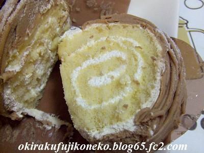 イタリア栗ロールケーキ3