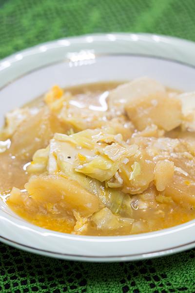 豆腐とジャガイモ