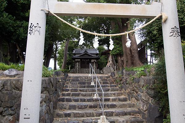 曽根神明社鳥居から拝殿