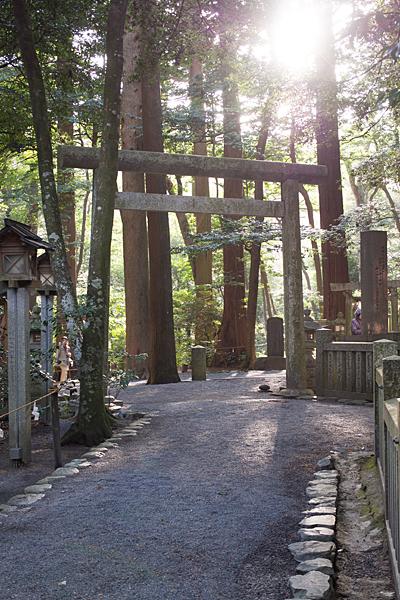 椿大神社鳥居と太陽