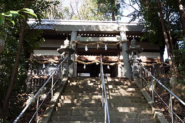 井後神社石段と三の鳥居