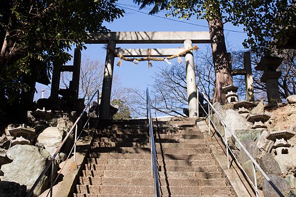 井後神社随身階段と四鳥居