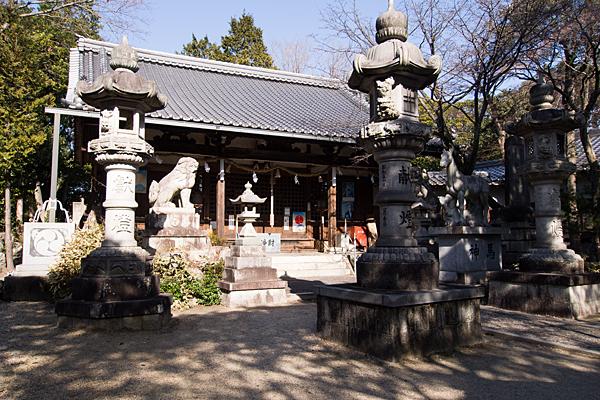 井後神社境内と社殿