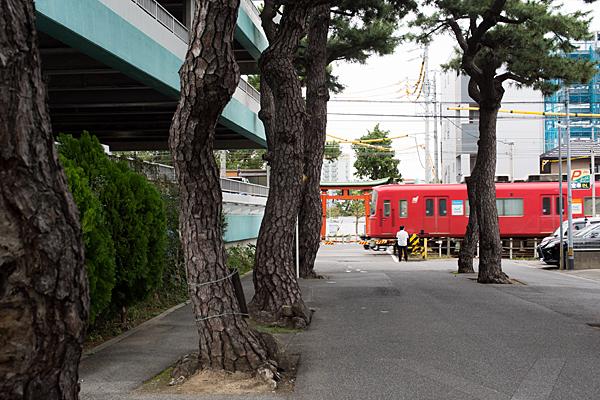 岡﨑駅近く名鉄