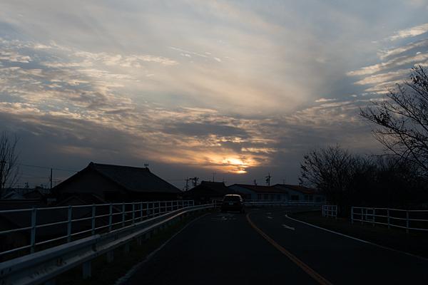道行き夕日ドライブ