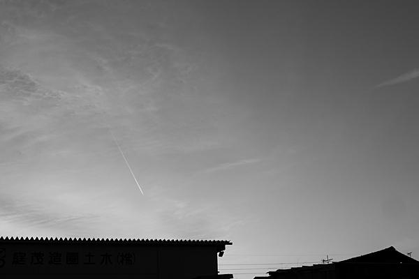 モノクロ家と空