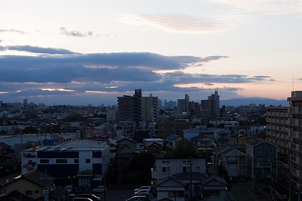 元日の夕方