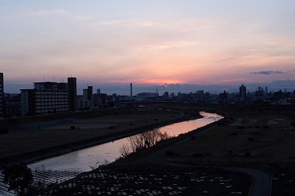 矢田川夕景