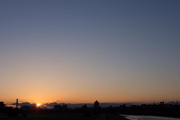 矢田川と夕日