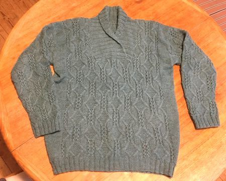 ブルーグレイのセーター-1