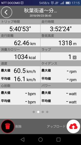 2018.09.23 走行タイム