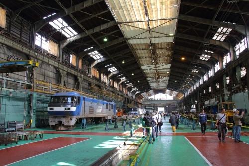 第25回JR貨物フェスティバル 広島車両所公開 建屋内