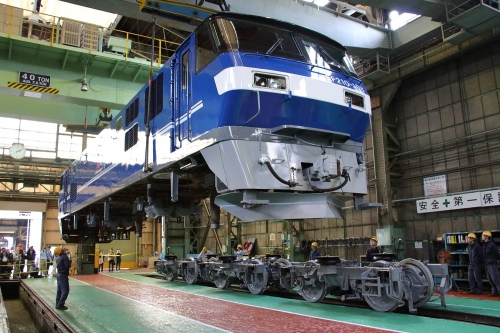 第25回JR貨物フェスティバル 広島車両所公開 電気機関車吊り上げ実演