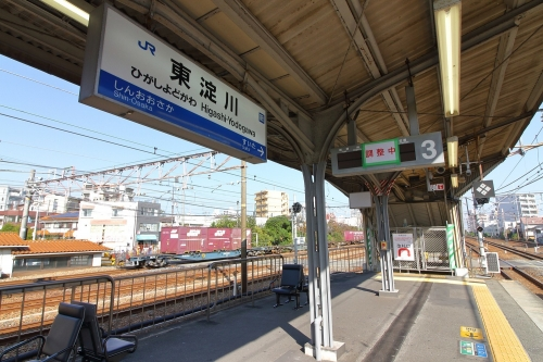 JR東淀川駅橋上駅舎3番線ホーム 2018.11.11