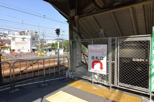JR東淀川駅地下通路階段と北宮原踏切跡 2018.11.11