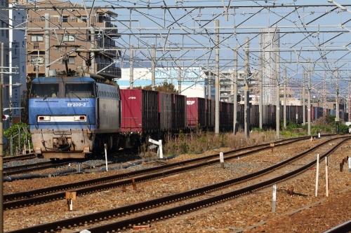 EF200-2代走 2081レ 北宮原第1・第2踏切