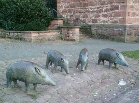 20190101エーベルバッハ市の猪像