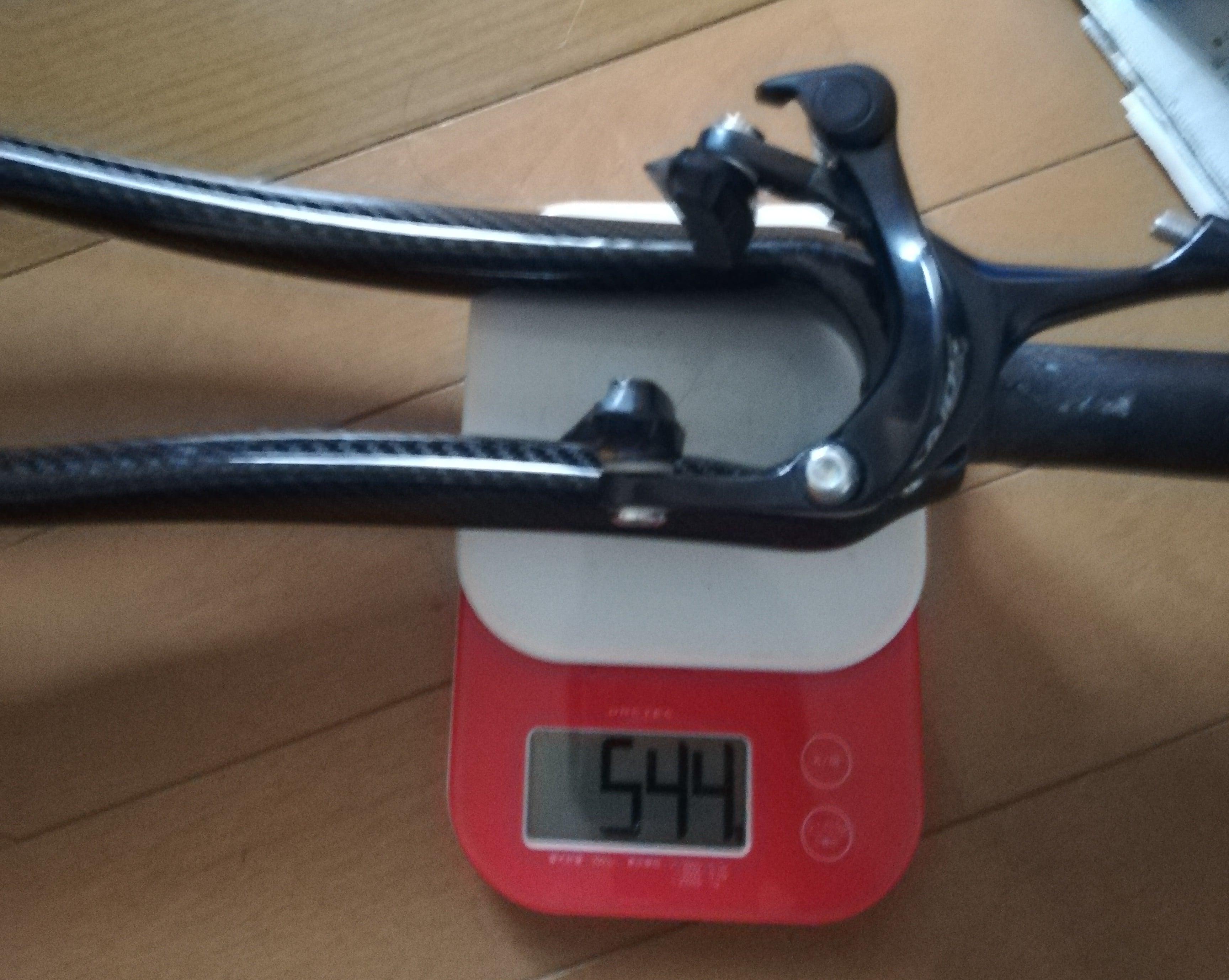カーボンフォークブレーキ込み重量