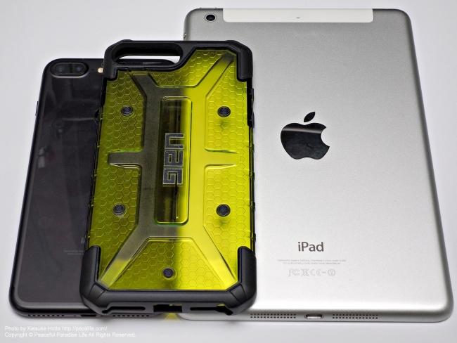 UAG PlasmaとiPhone 7 Plus BlackとiPad mini 2 Silver