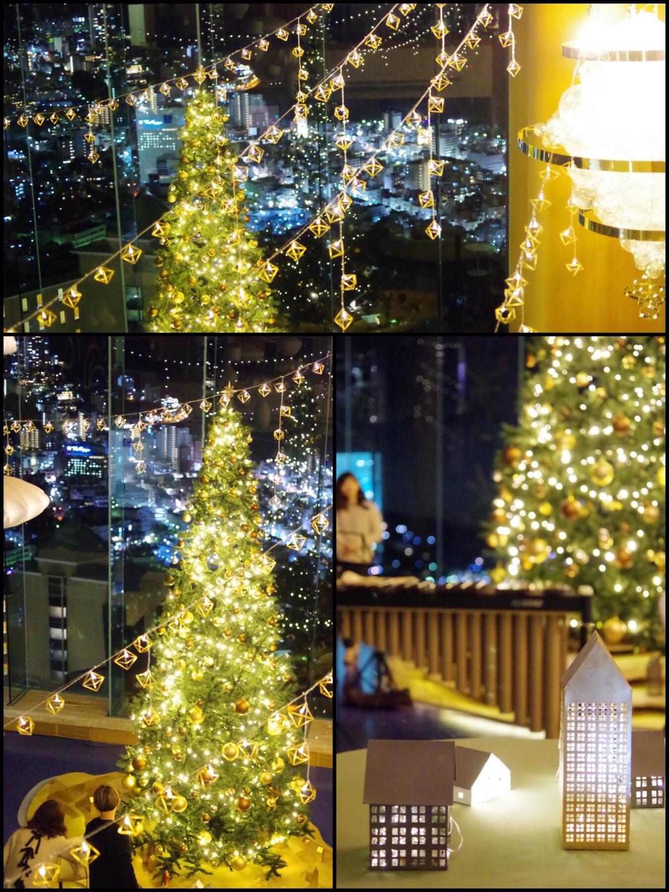 星野やリゾート リゾナーレ熱海 森の空中基地くすくす シトラスクリスマスライトアップ