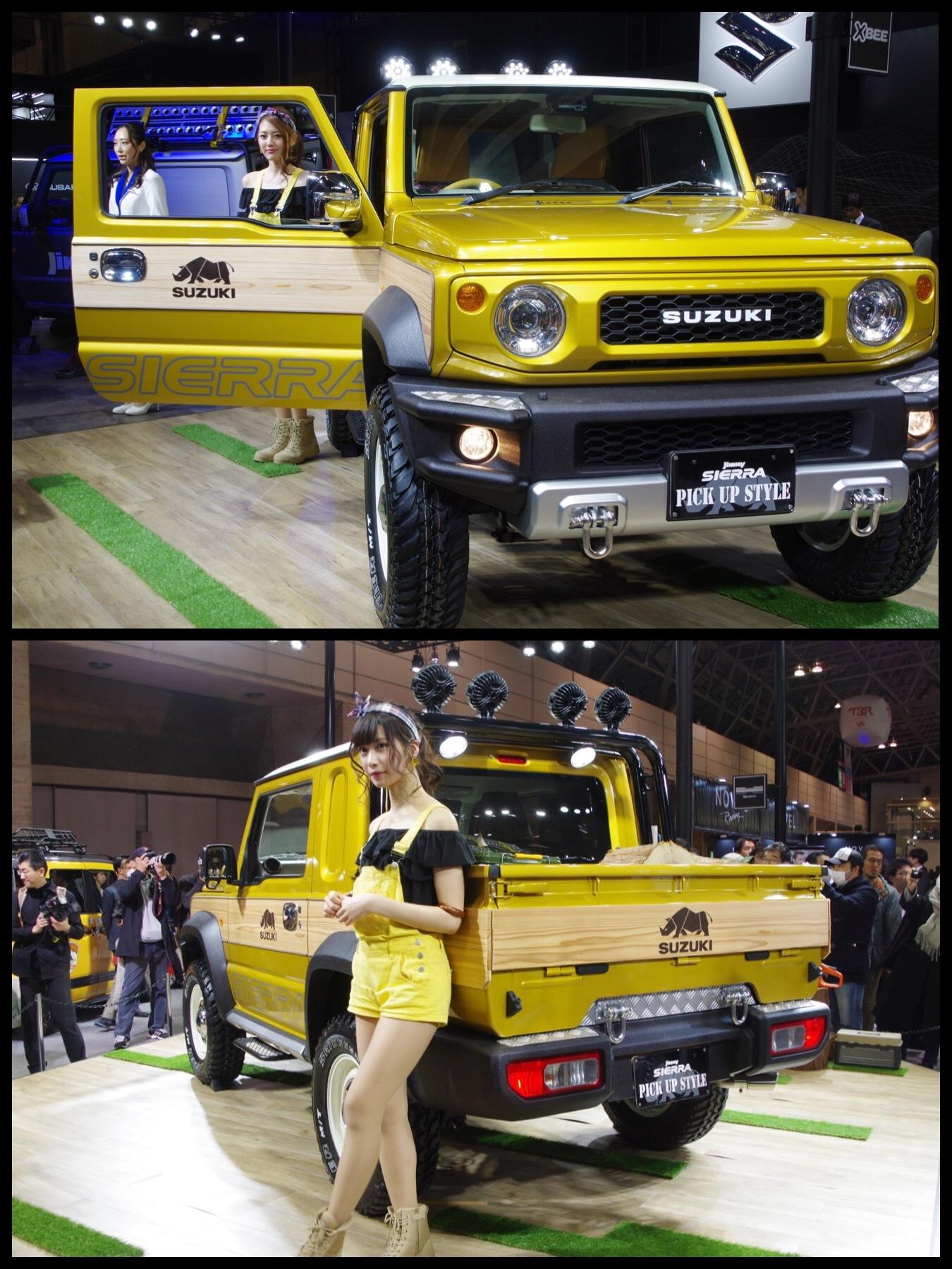 東京オートサロン2019 スズキ ジムニーシエラピックアップトラック