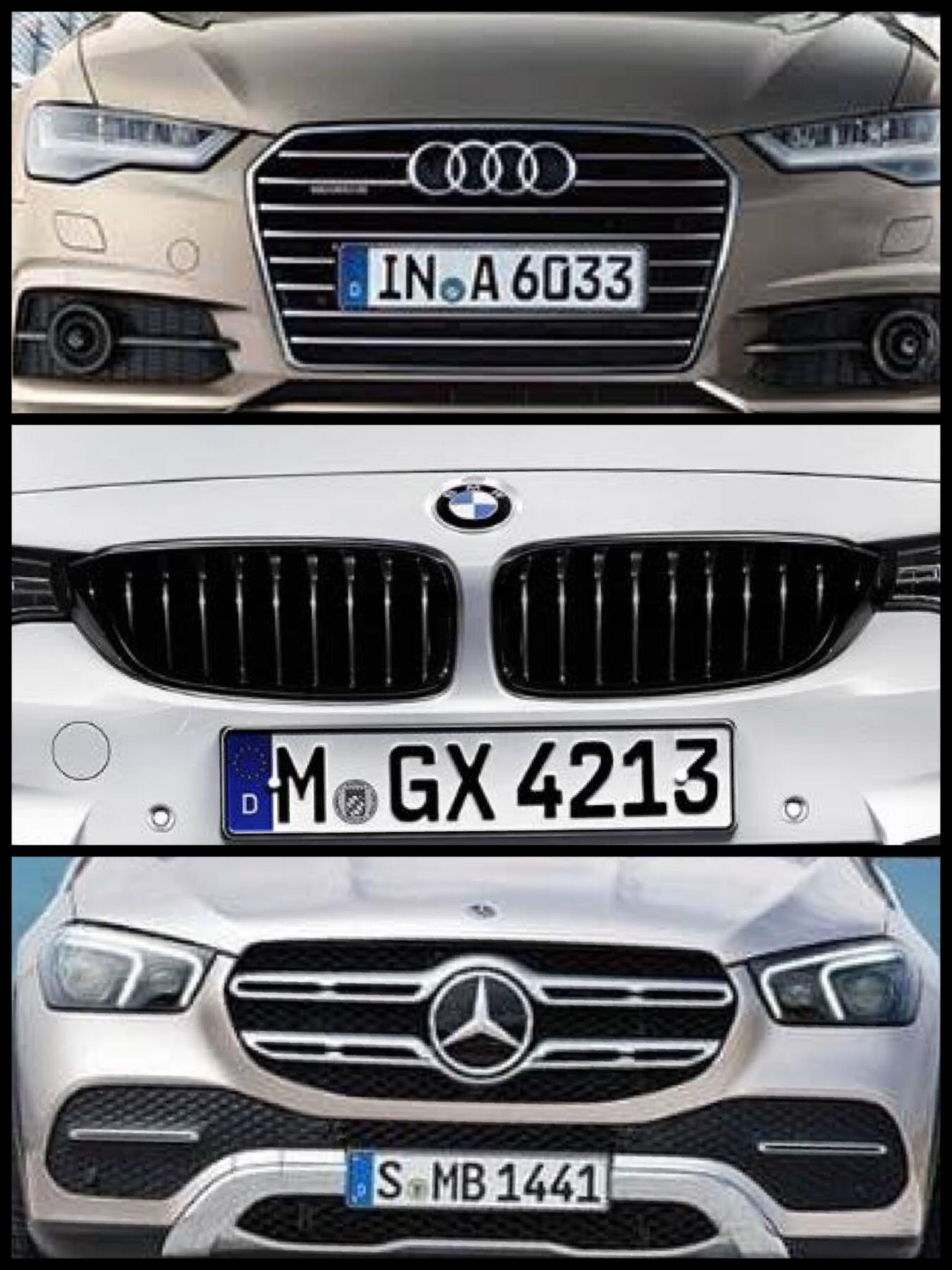 アウディ BMW メルセデス グリル