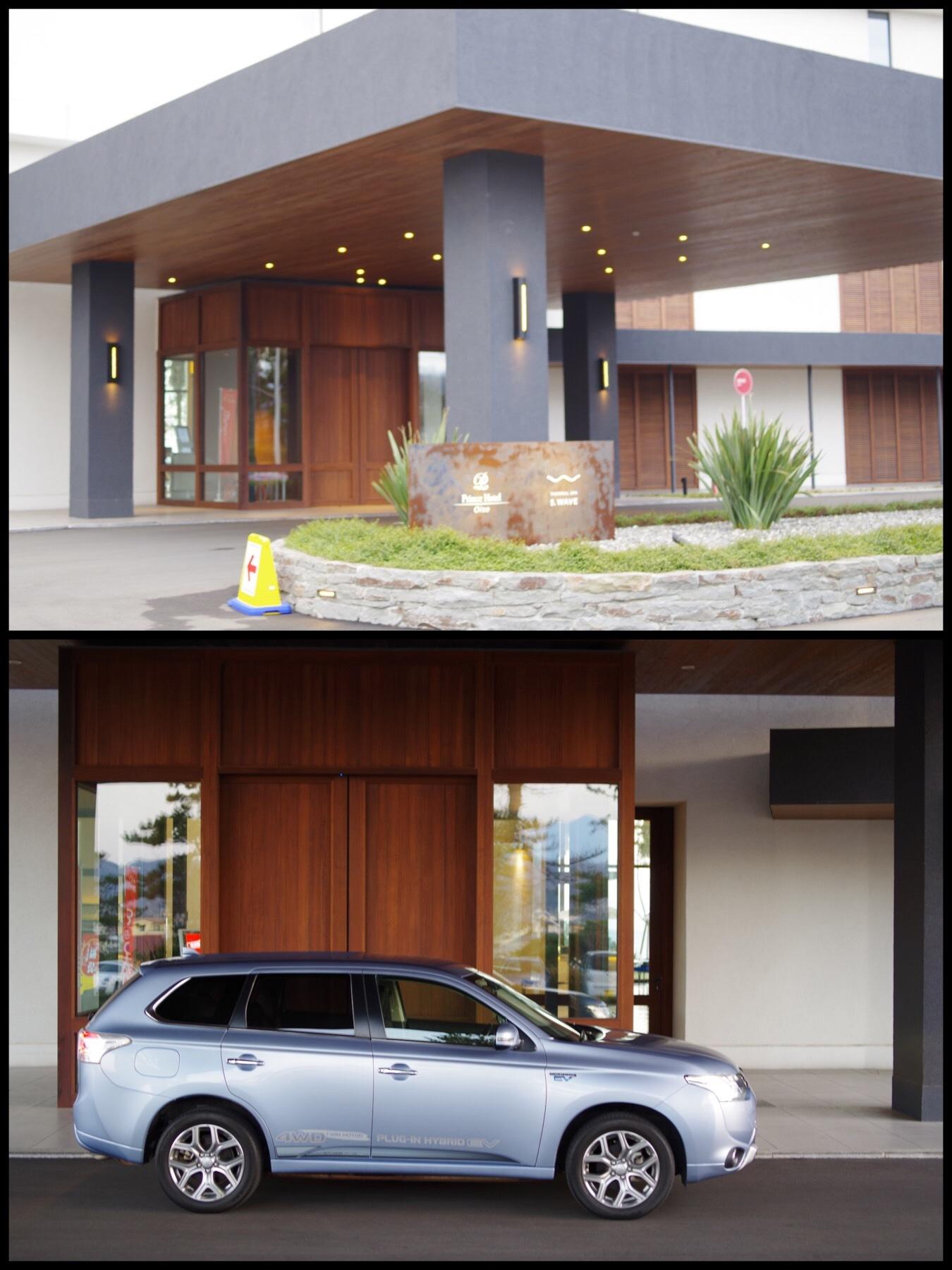 EV急速充電スポット 大磯プリンスホテル駐車場