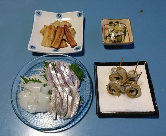 2018 12月1日 タチウオ料理1