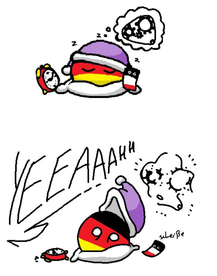 【フランス】冬のあるある【ポーランドボール】