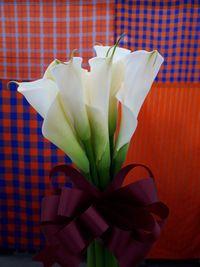 【写真】クリスマスプレゼントでいただいたカラーの花束