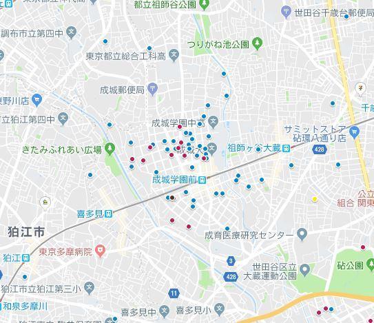 分布図成城