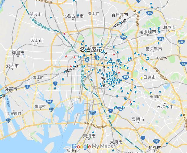 分布図名古屋