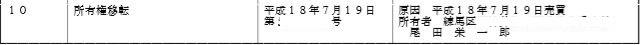 尾田栄一郎謄本