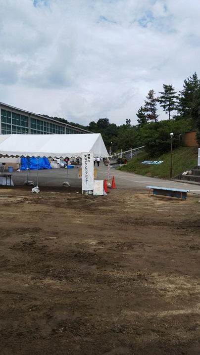 岡山県の中国職業能力開発大学校内の倉敷市災害ボランティアセンター5